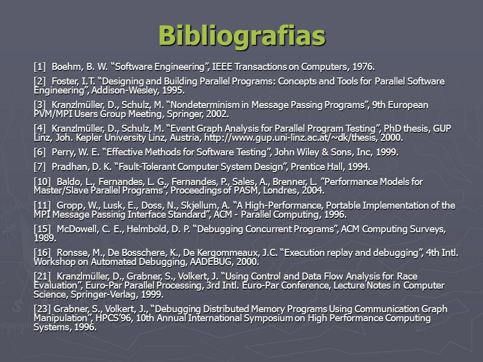 Bibliografias[1] Boehm, B. W. Software Engineering , IEEE Transactions on Computers, 1976.